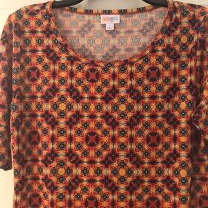 Lularoe Julia Dress Size Large ( worn once )